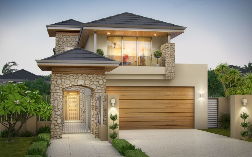 Lathlain 2 Storey Narrow Design With Limestone Feature