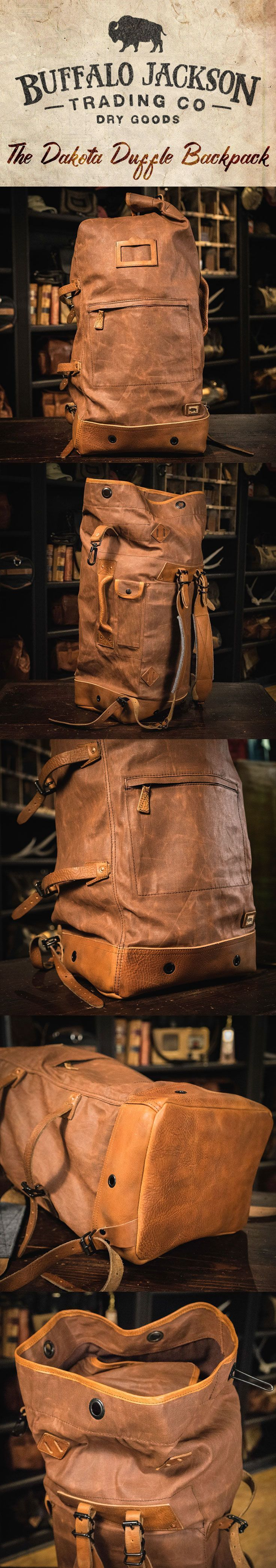 Crafted of waxed canvas and leather with a distressed vintage finish b867a9fc4f27f