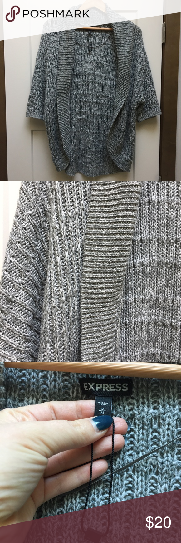Gorgeous Cocoon Open Sweater A gorgeous and very comfortable open cocoon style sweater in a gray color. By Express and in excellent condition. Barely worn! Express Sweaters Cardigans