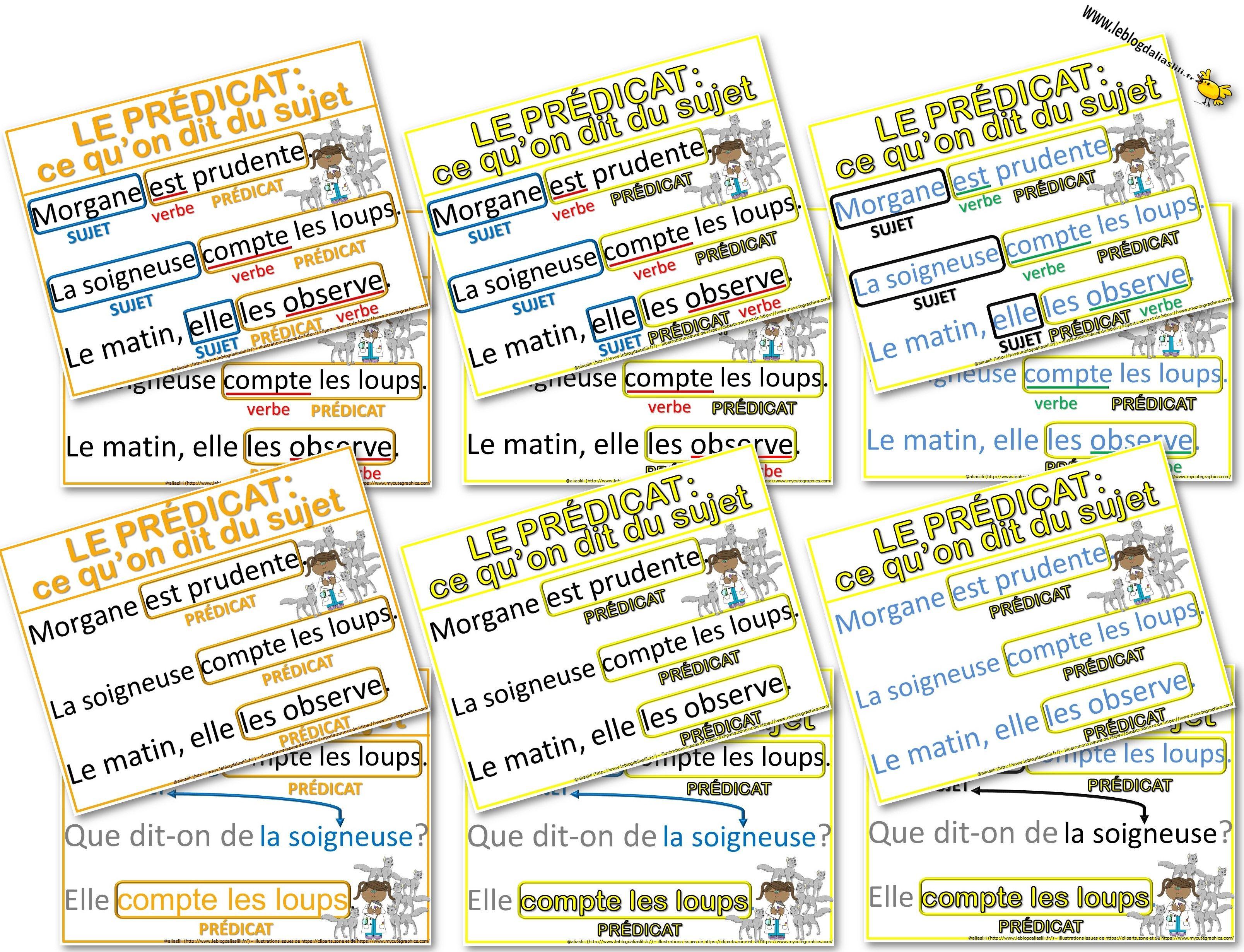 Affiches Autour De La Notion De Predicat En Lien Avec La Grammaire Au Jour Le Jour Tome 2 Le Blog D Aliaslili Bullet Journal Journal