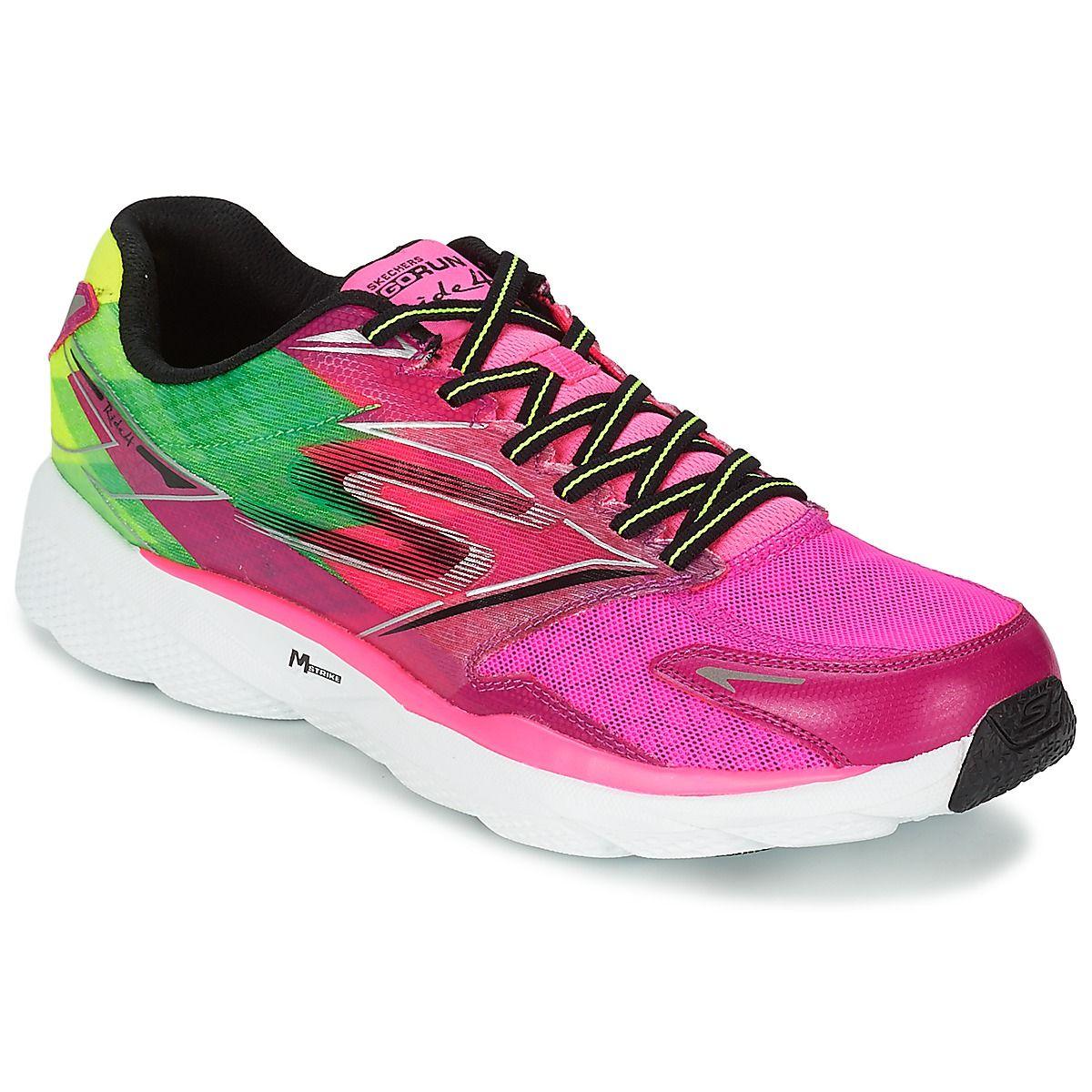 Chaussures de running Skechers GO RUN RIDE 4 Rose prix promo Baskets Femme  Skechers Spartoo Spartoo