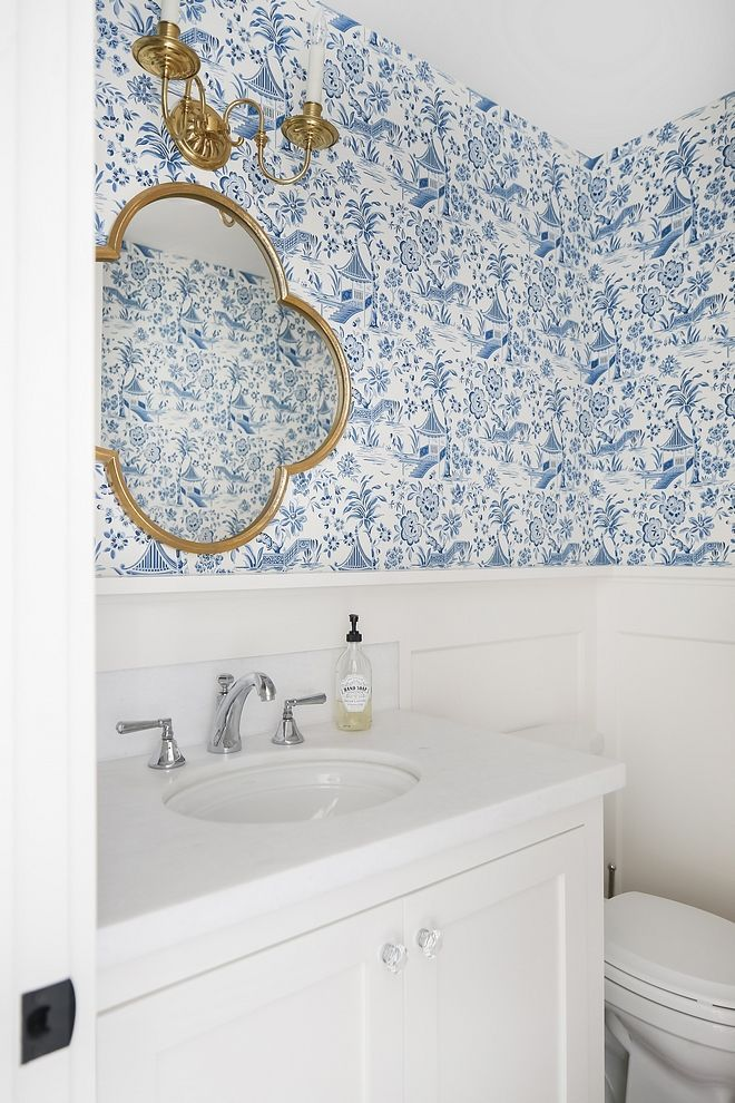 Toile In 2020 Badezimmer Tapete Blaues Badezimmer Ideen