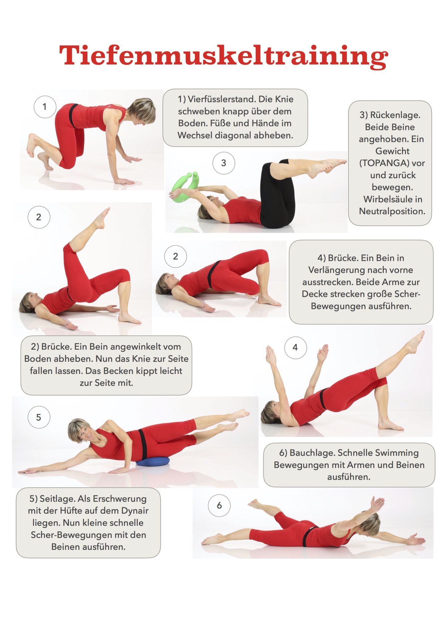 Tiefenmuskeltraining für eine aufrechte Haltung! | Rückenschmerzen ...