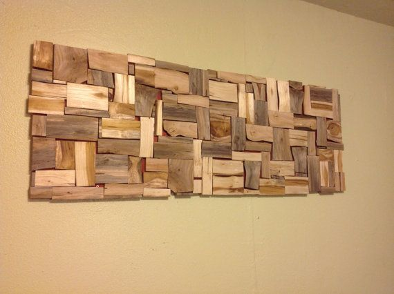 Modern Rustic Wood Tree Slice strip Wall Hanging Art Framed ...