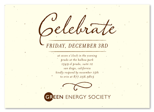 Invitation Format For Business Event. Green Corporate Event Invitations  Antique Script by