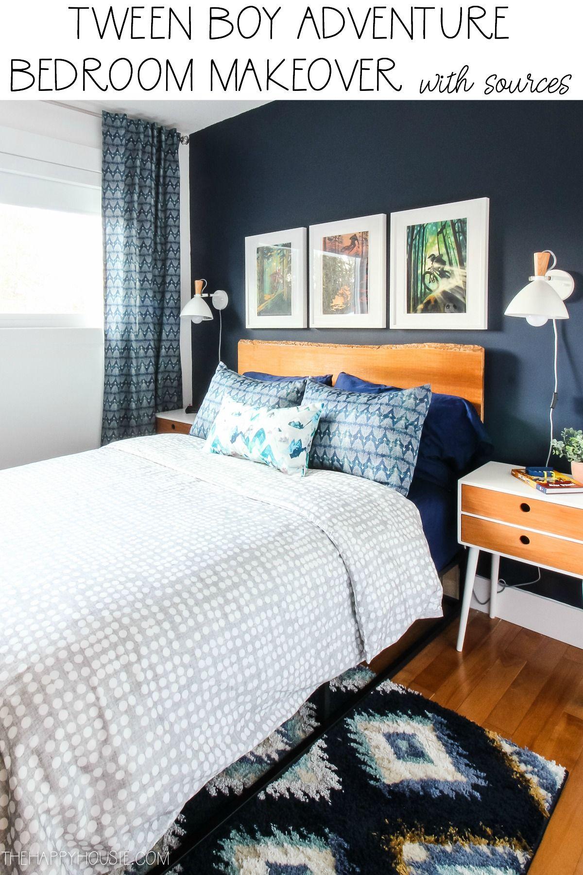 Tween Boy Adventure Bedroom Makeover Reveal The Happy Housie In