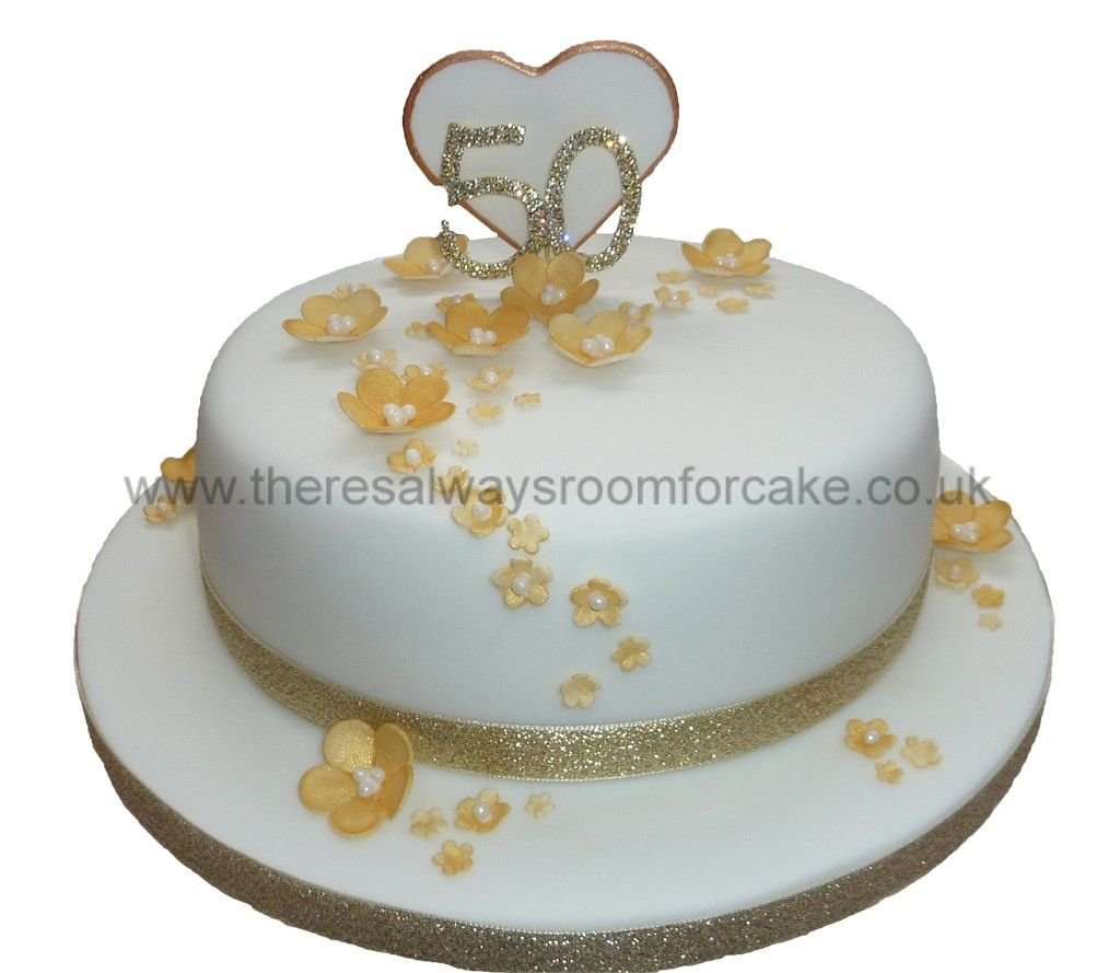 50th-golden-wedding | 50th anniversary cakes | Pinterest | Occasion ...