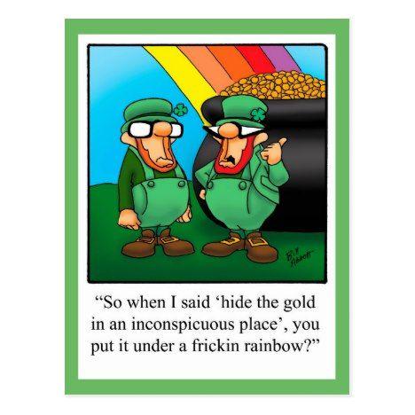 Funny St. Patrick's Day Humor Postcard St