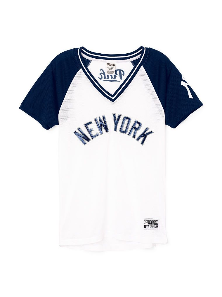 ce66d2508d New York Yankees Bling Mesh Jersey - PINK - Victoria s Secret ...
