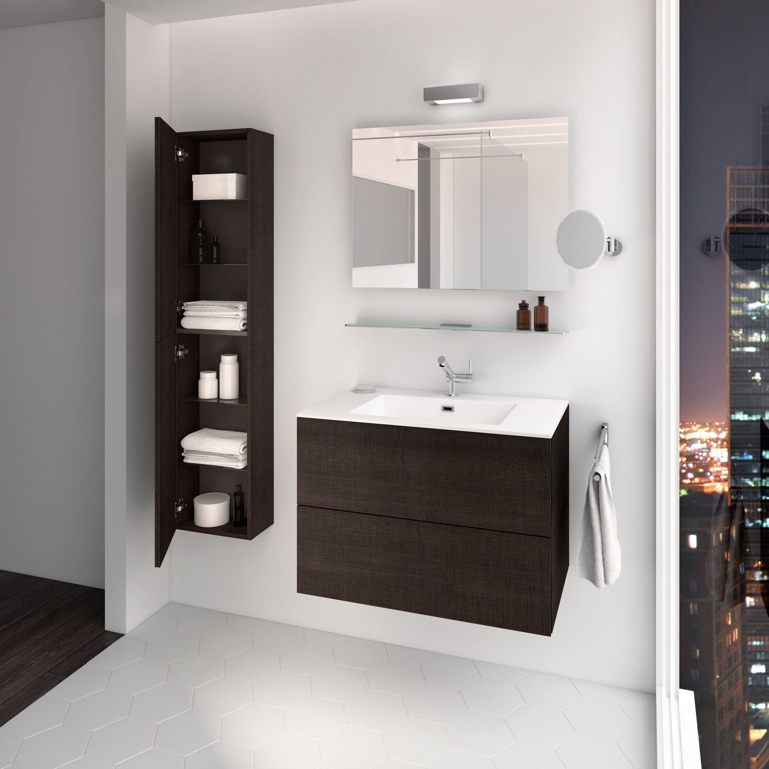 Block Evo #bathroom #furniture collection by Cosmic | FURNITURE ... - Block Evo #bathroom #furniture collection by Cosmic