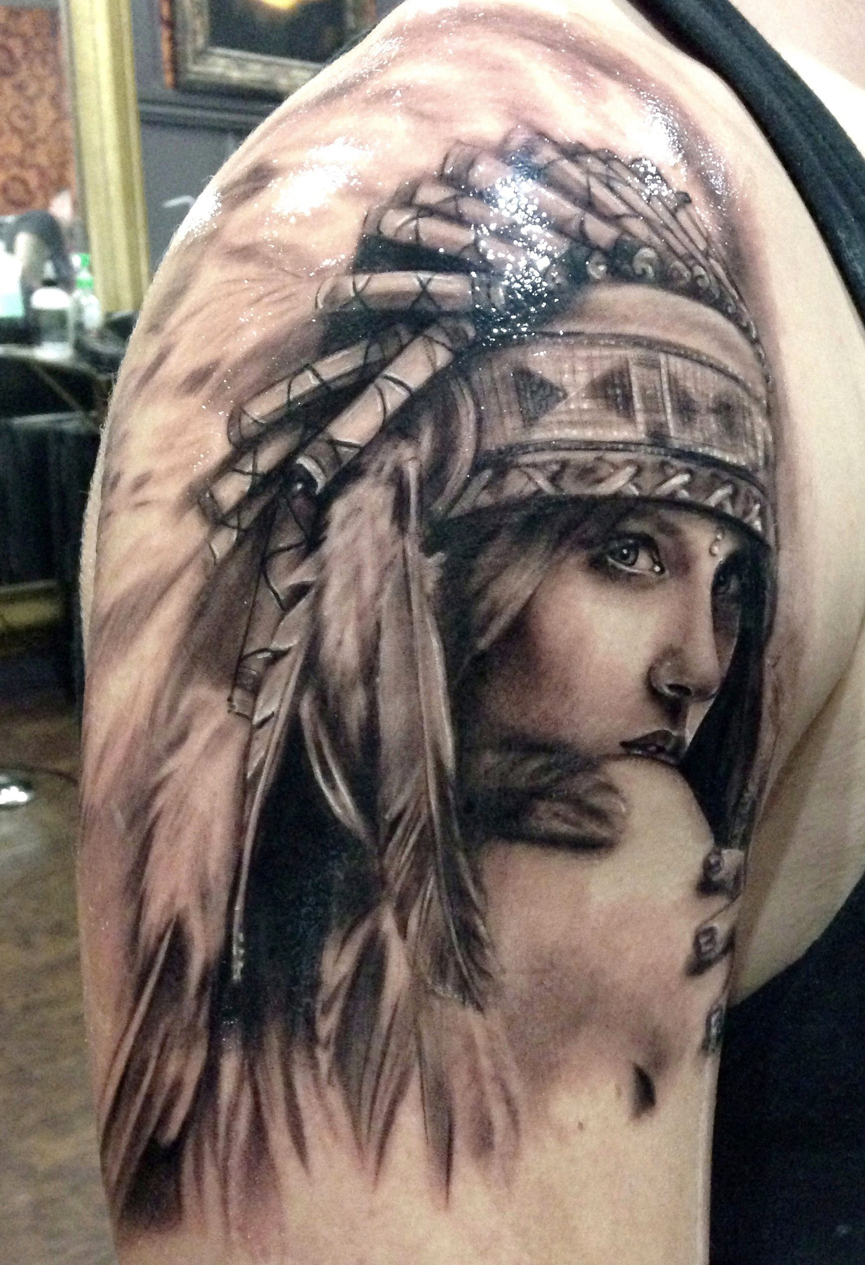 Headdress tattoos pinterest headdress tattoo and for Indian woman tattoo
