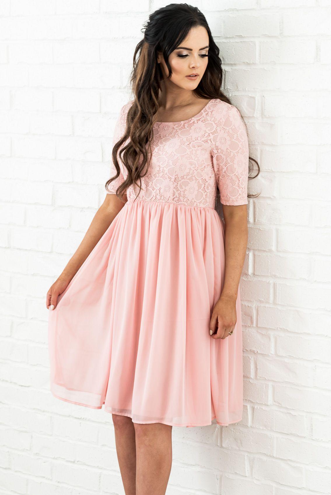 a3d1bf8878b Beautiful lace   chiffon modest dress - perfect for date night ...