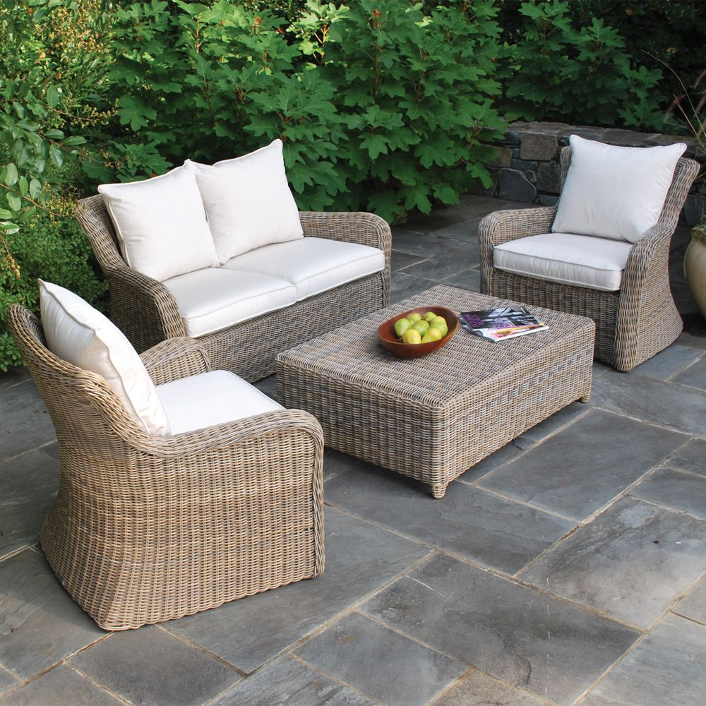 Kingsley-Bate Sag Harbor Settee Set: Transitional Love Seat with ...