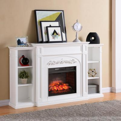 Home Decorators Collection Highland 50 In Faux Stone Mantel Electric Fireplace In Gray 103058 The Home Depot Infrared Fireplace Electric Fireplace Home Fireplace
