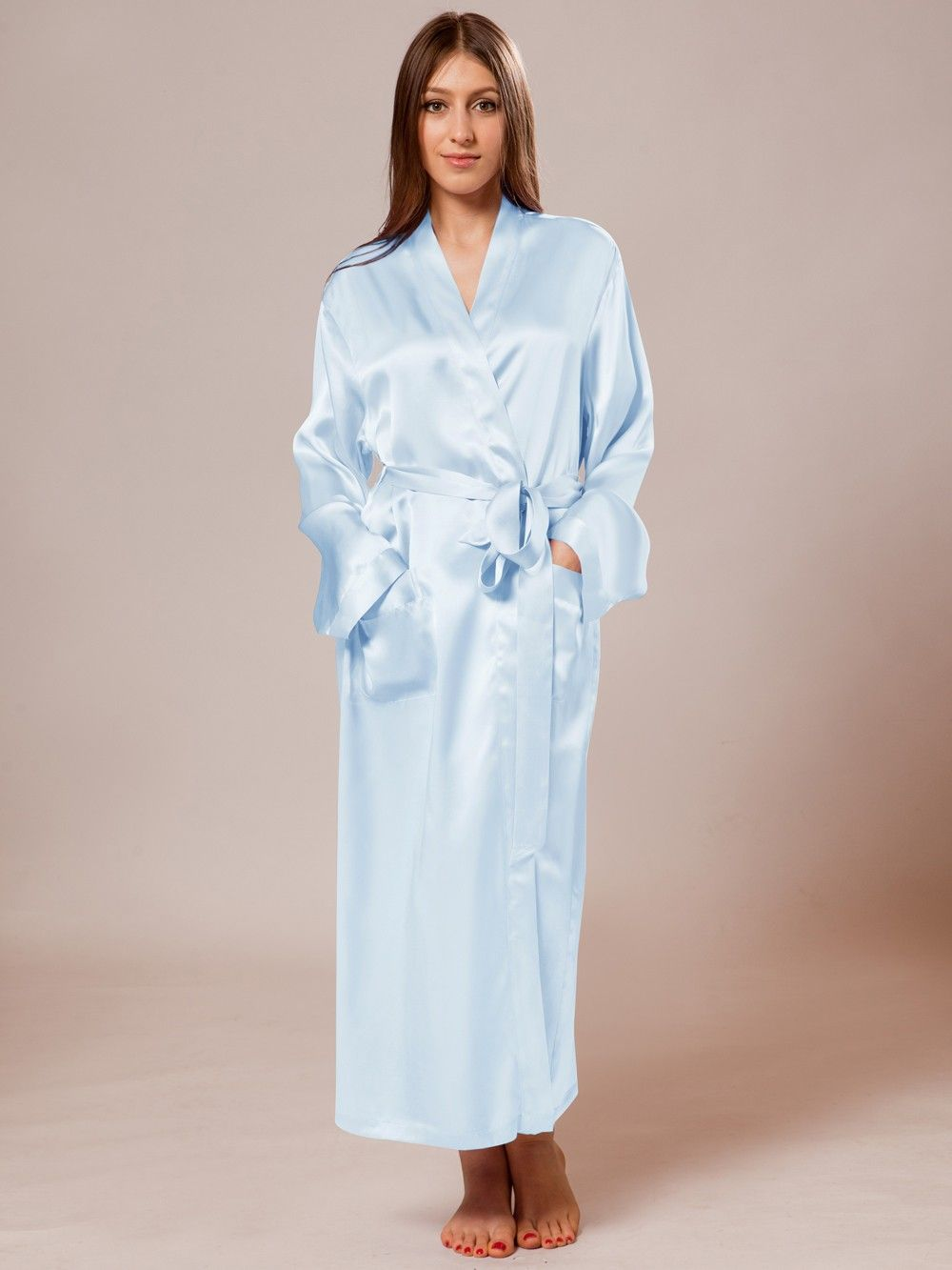 903a84aeb5 Shop blue silk robe for women. Made of 100% 22 mm mulberry silk