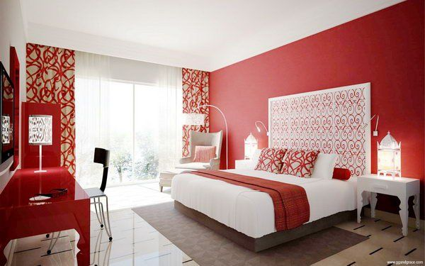 45 beautiful paint color ideas for master bedroom - Bedroom Color Red