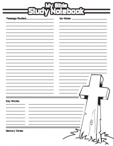 FREE Bible Study Notebook Pages   Bible study notebook, Bible and ...