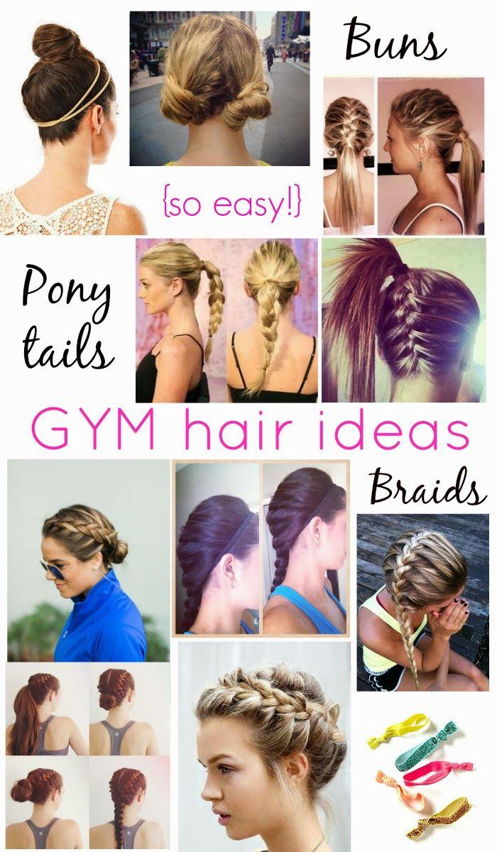 easy workout/gym hair styles (rachel @ glitter & bow