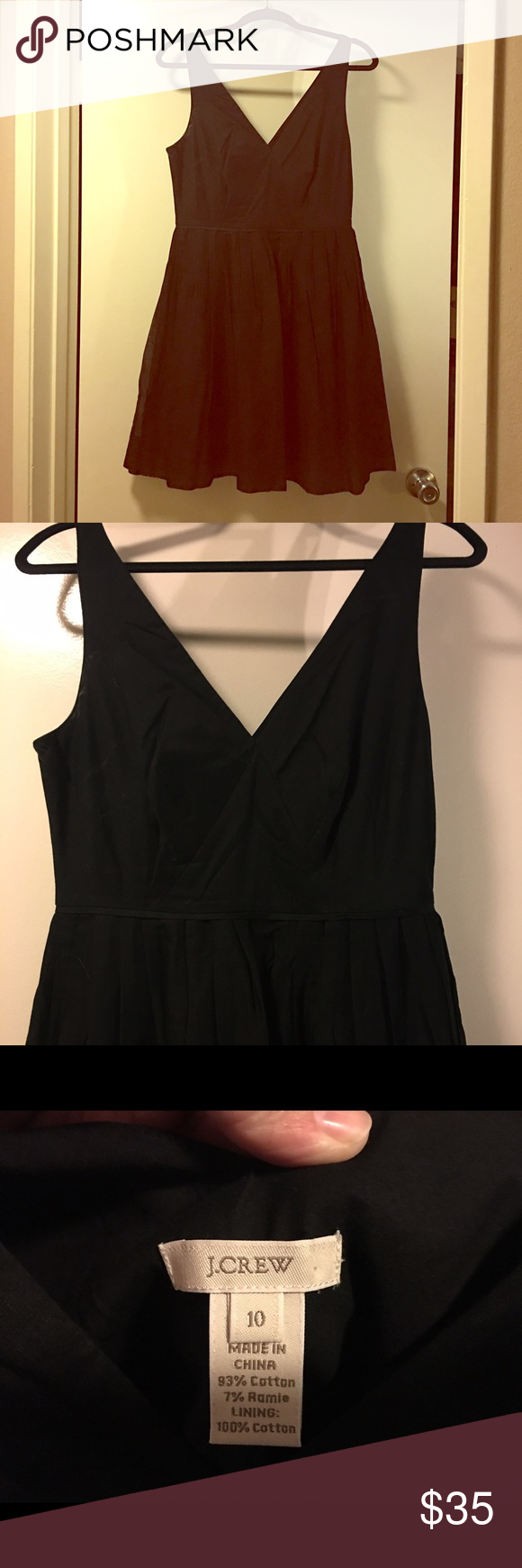 J Crew LBD Little black J Crew dress, size 10. Sleeveless, v-neck, pleated and hits at natural waist. Never worn, but tags have been removed. J. Crew Dresses Midi