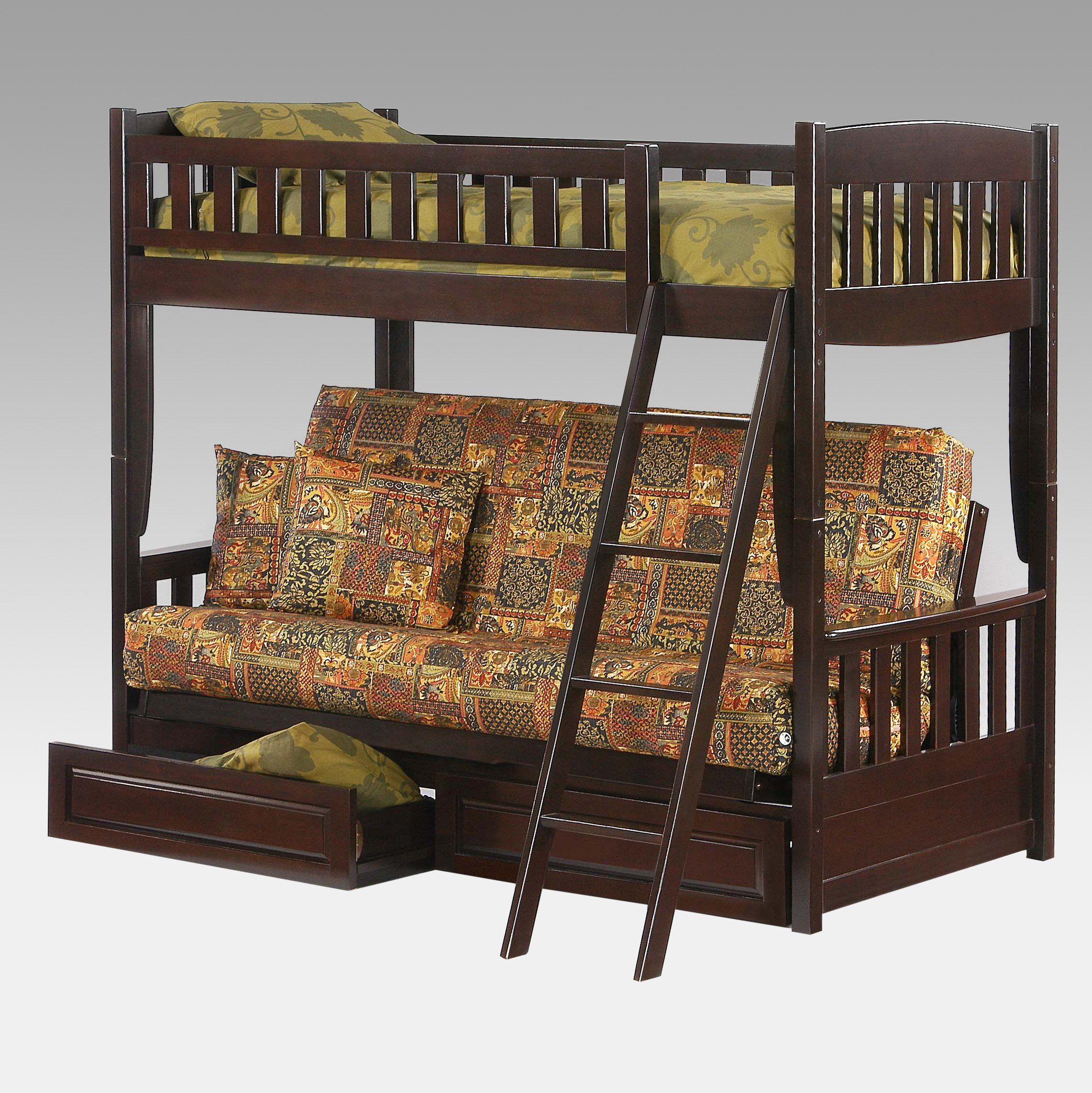 Have to have it. Cinnamon Twin over Futon Bunk Bed 799.99