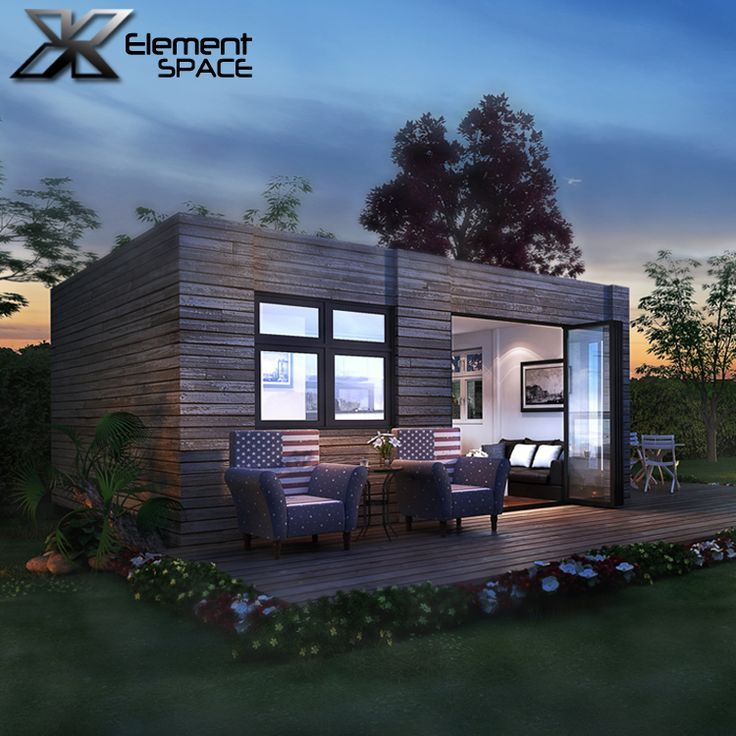 2 Units 20ft Luxury Container Homes Design Prefab