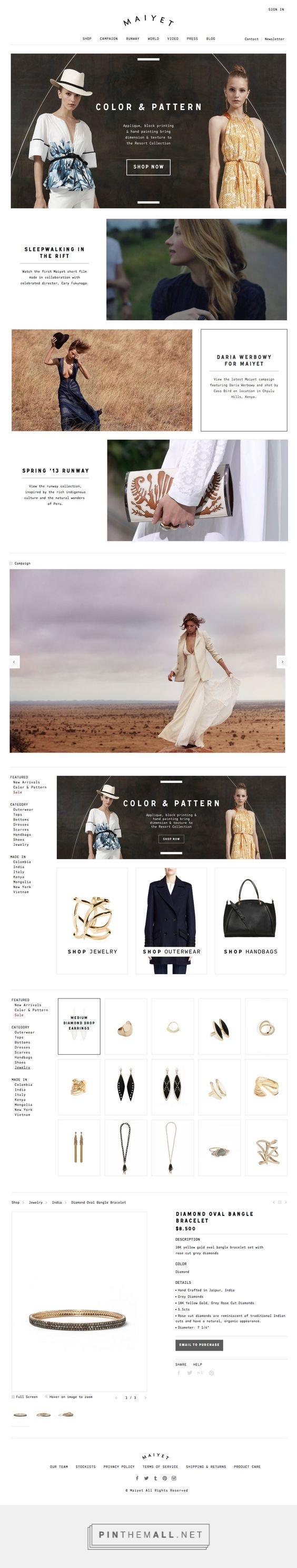 Maiyet Fashion Web Design Fivestar Branding