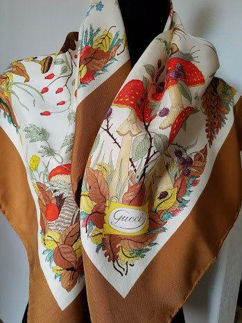 5ece0ff5f 1960's Vintage silk GUCCI Flora Vittorio by ChickadeeFashion | Gucci ...