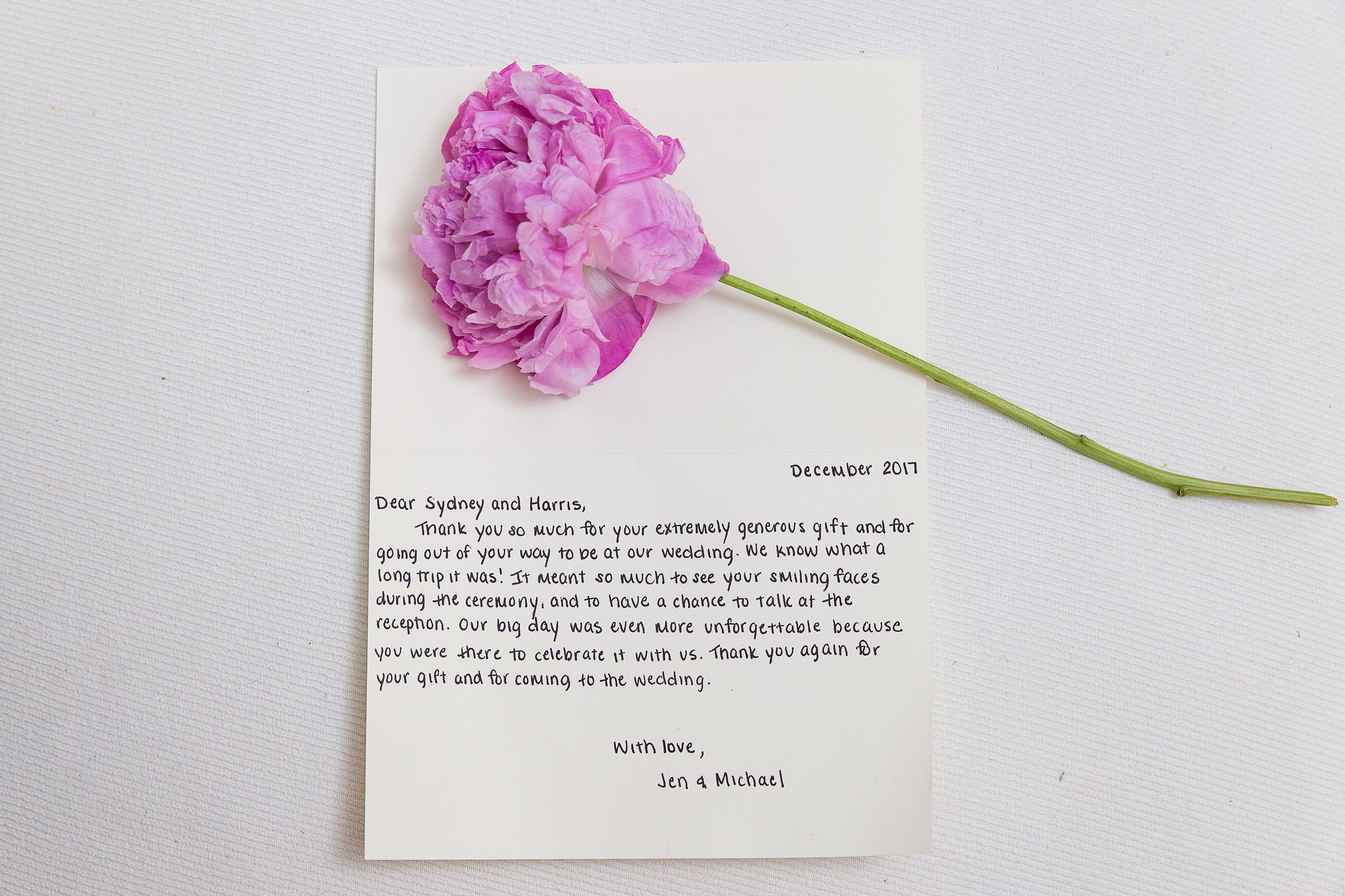 Personalized Handwritten Wedding Thank You Notes by