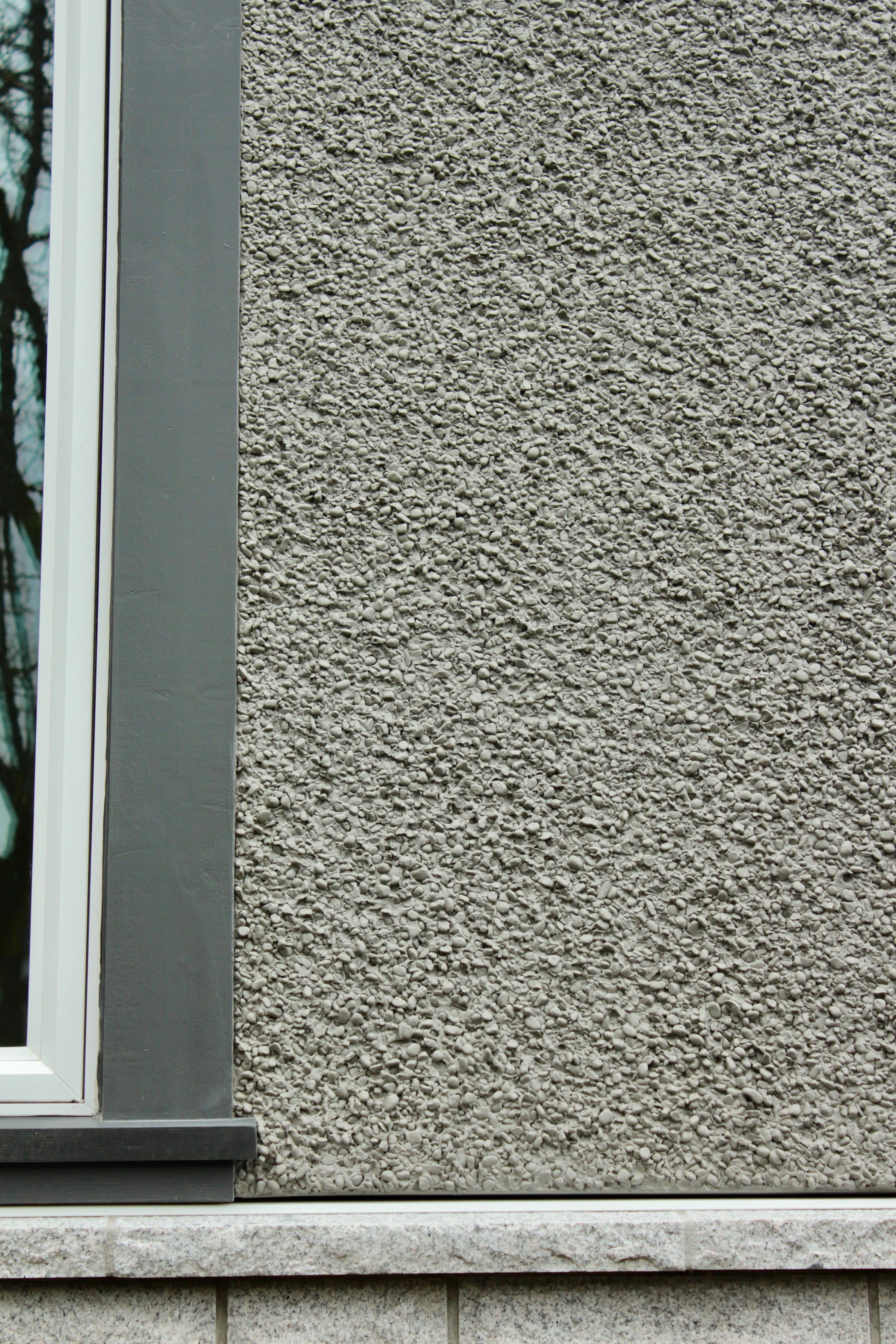 Painted Rock Dash Stucco Finish Gives Your Home A Great Consistent Texture Stucco Exterior Stucco Texture Exterior Paint