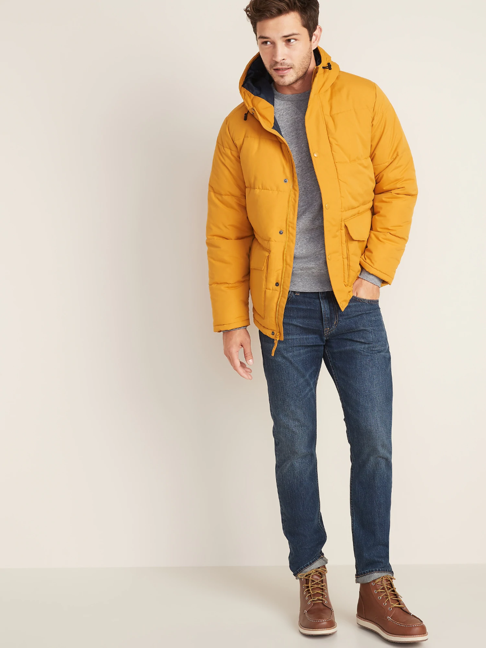 Water Resistant Hooded Puffer Jacket For Men Old Navy Mens Jackets Mens Street Style Old Navy [ 1333 x 1000 Pixel ]