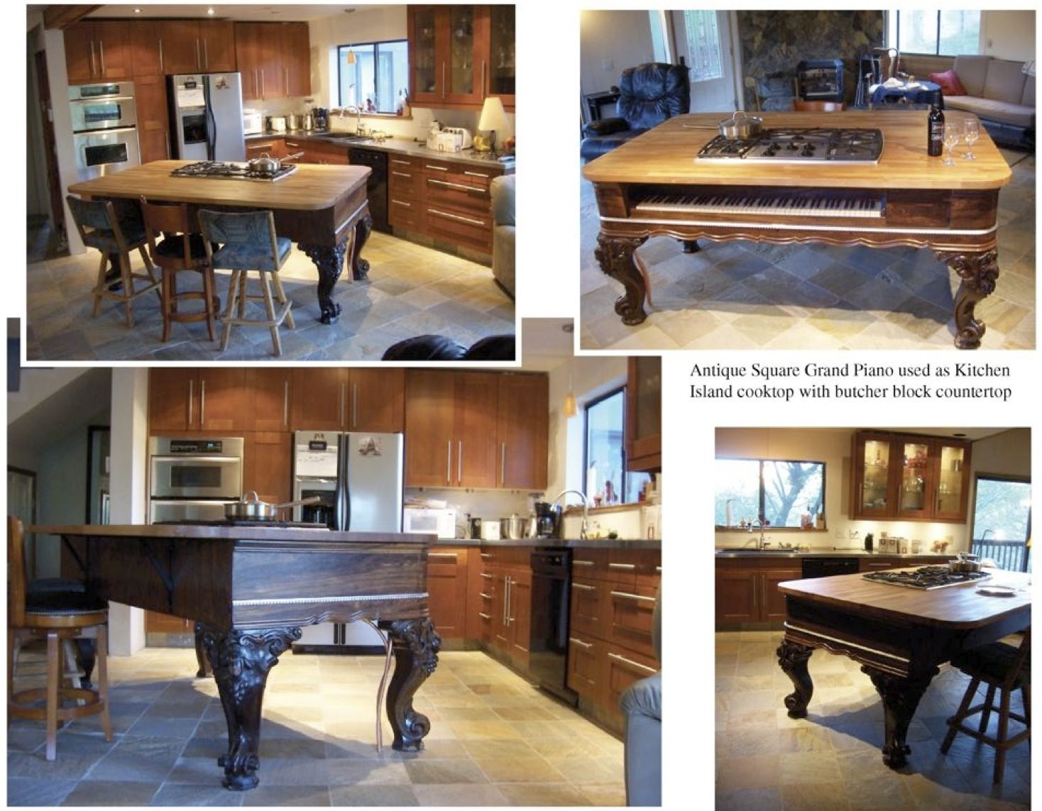 Repurposed Kitchen Island A Kitchen Island Made From A Grand Piano A Masterful Piece Of Art