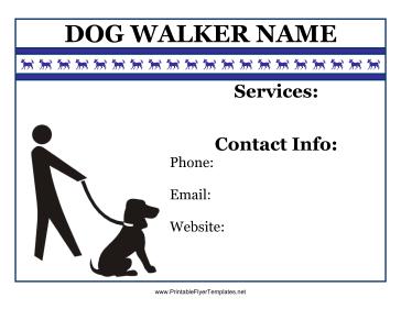 Dog Walking Advertising Promotional Flyer Zazzle Com Dog