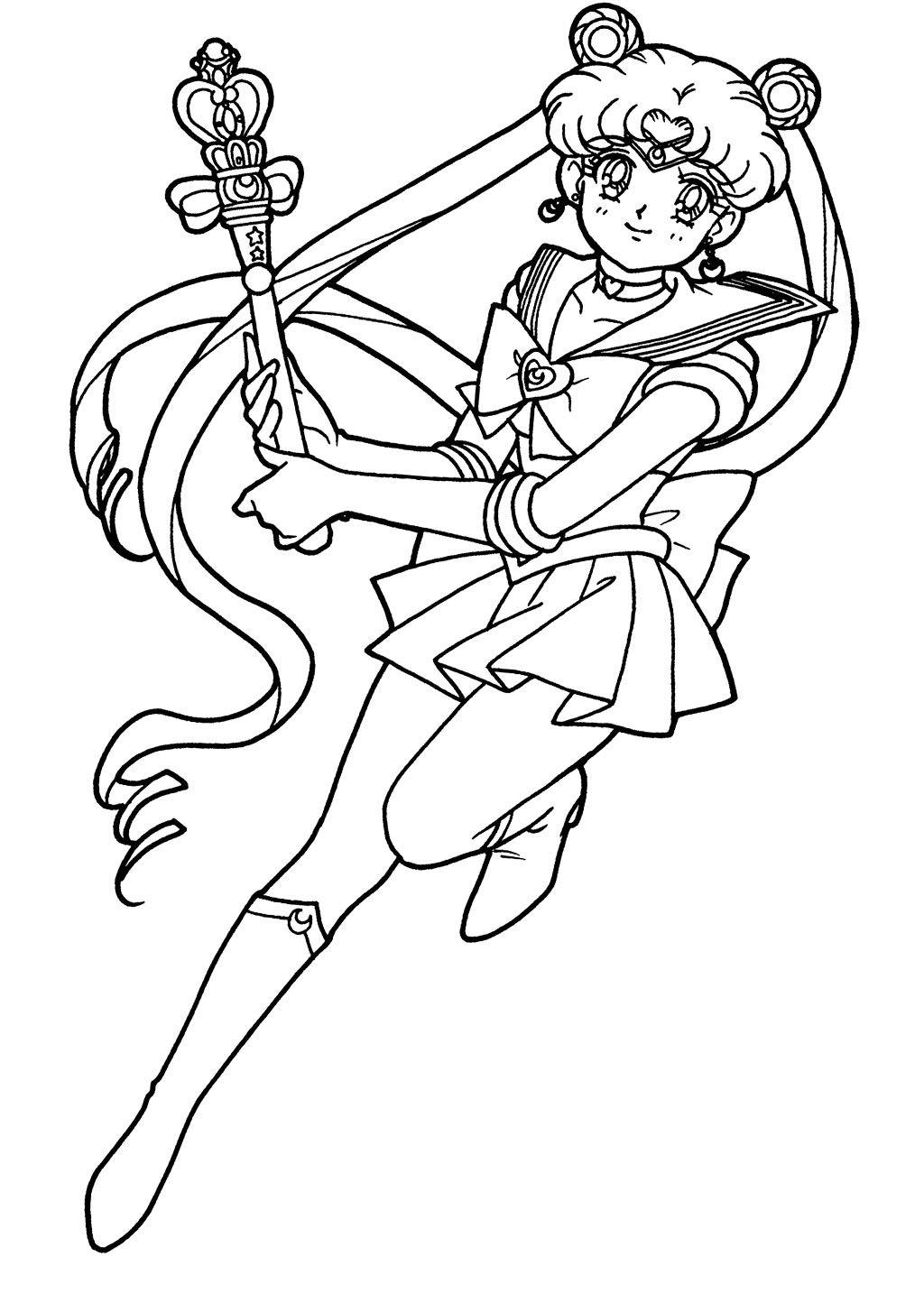 Sa sailor moon coloring games online - Sailor Moon Coloring Page Sailormoon