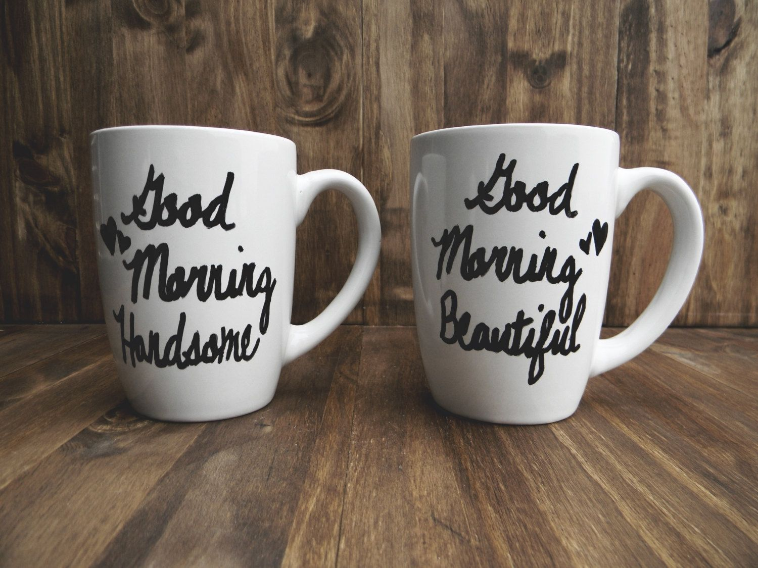 Practical Wedding Gifts For The Newlyweds: Set Of 2 Good Morning Beautiful & Handsome Ceramic Mugs