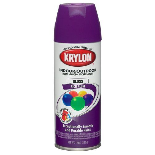 Plum Kitchen Paint: Colormaster Indoor/Outdoor Aerosol Paint 12oz-Gloss Rich