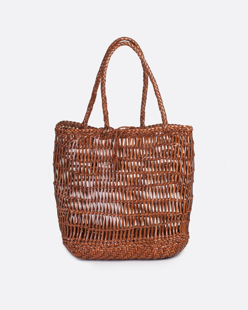 6fe54752b263 Dragon woven  Dora  leather basket bag