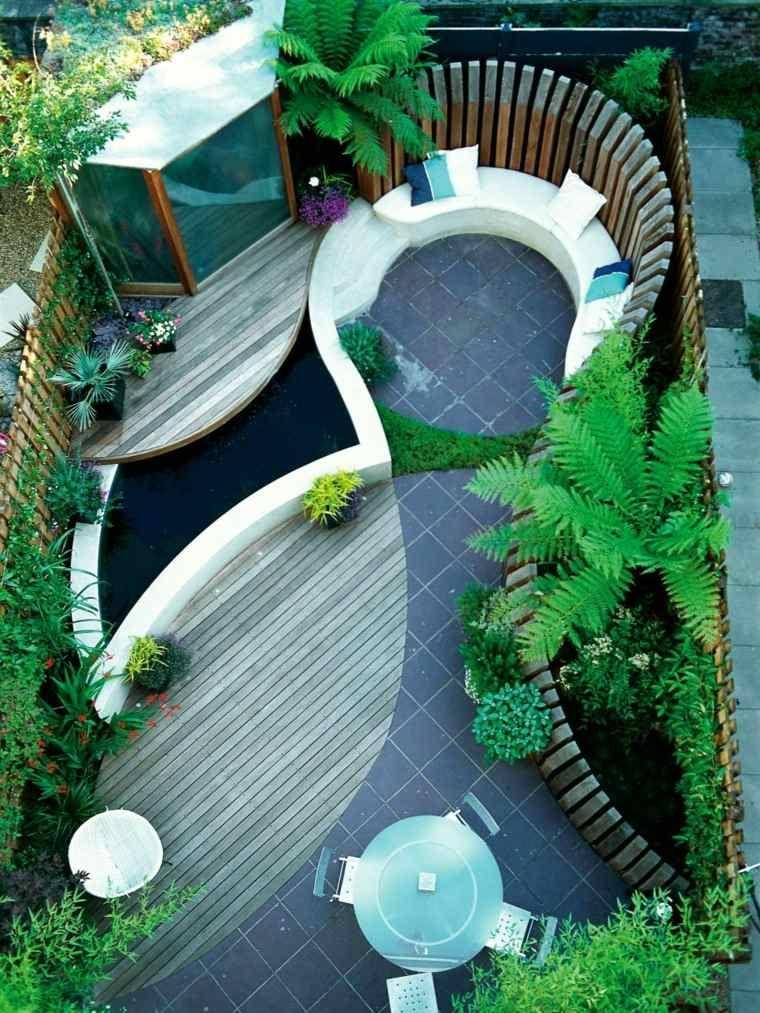 Patio et petit jardin moderne des id es de design d 39 ext rieur jardin moderne petits jardins - Idees terrasses exterieures ...