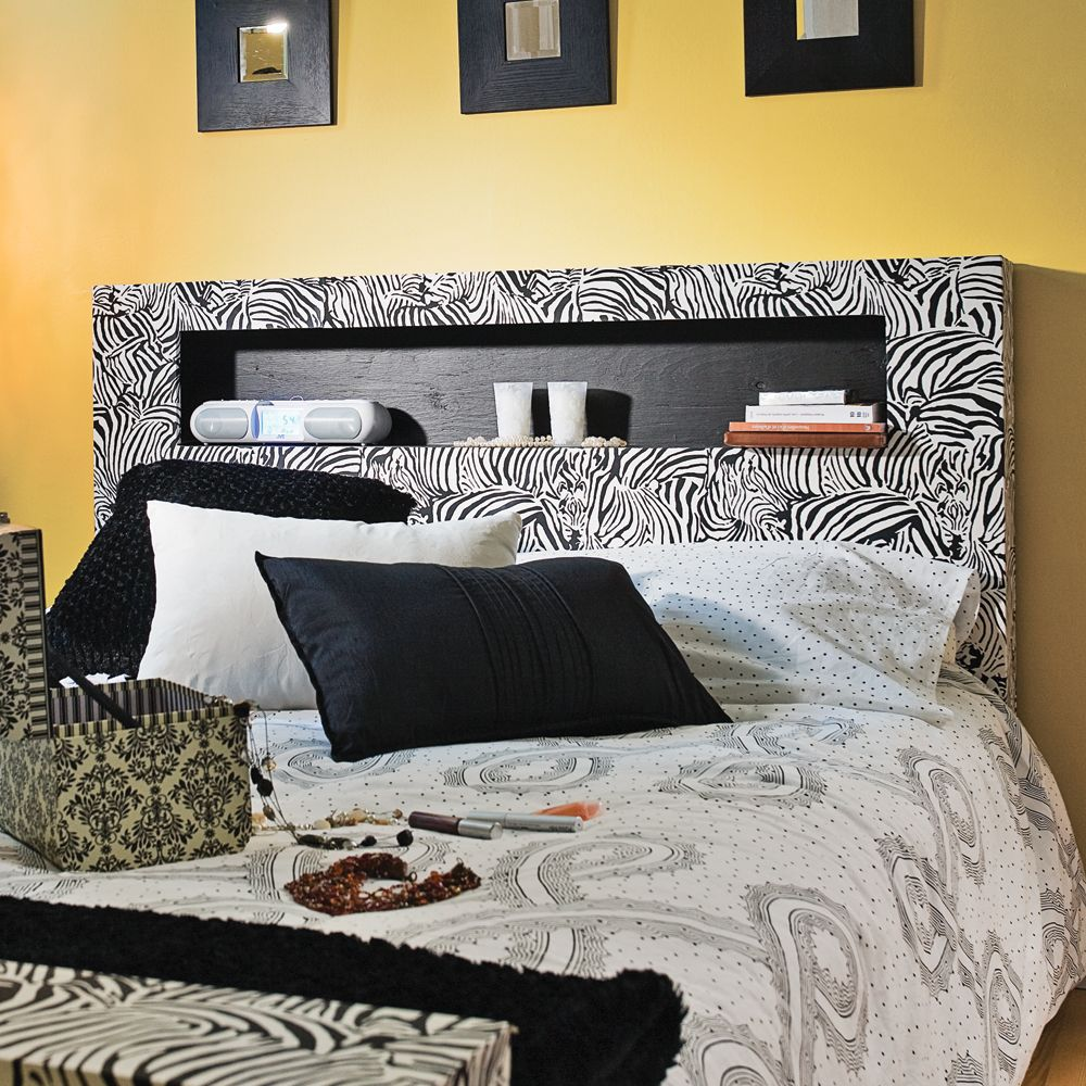 Papier Peint Pour Faire Tete De Lit À partir d'une base de lit en mélamine, on peut faire