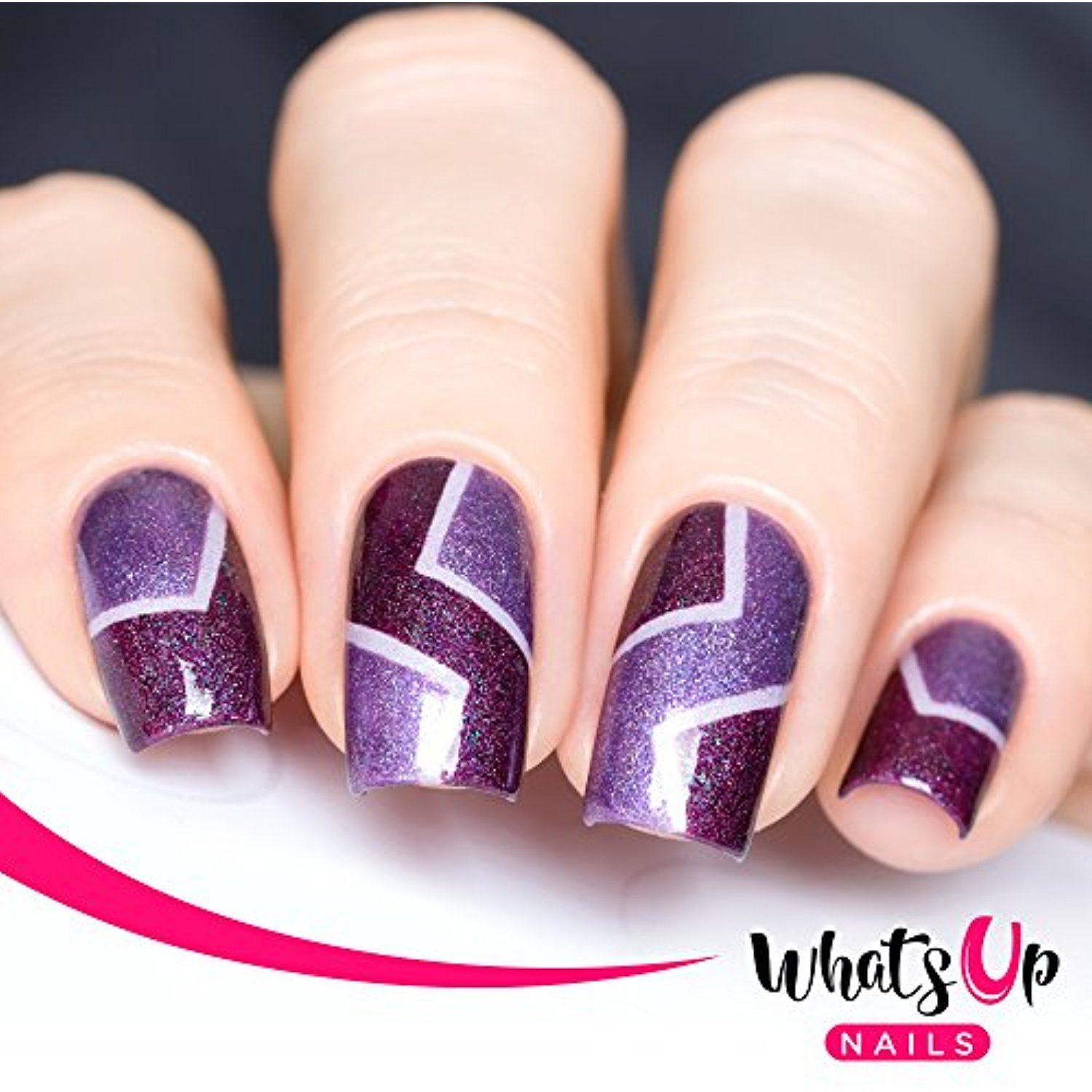 Whats Up Nails - Skinny Chevron Tape Nail Stencils Stickers Vinyls ...