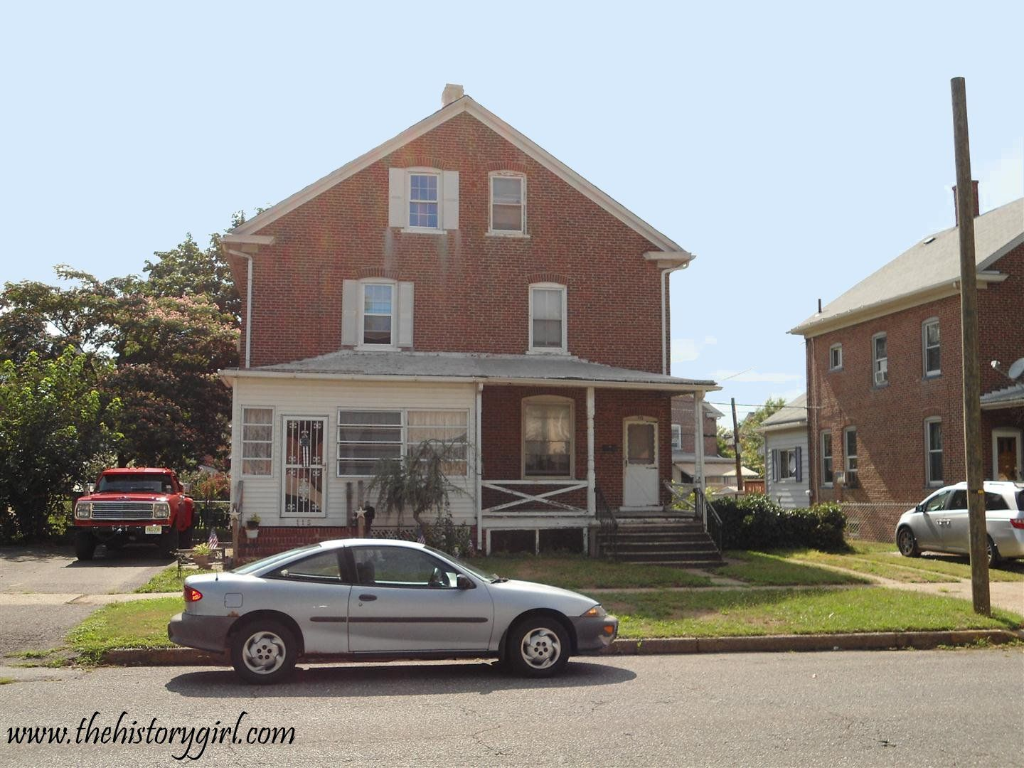 Duplex homes built for skilled workers in Roebling, NJ.