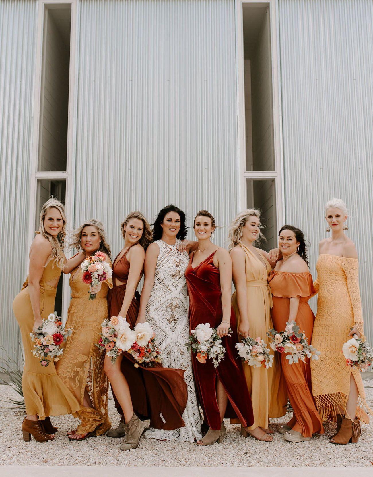 Amber Satin Chiffon Bridesmaid Dresses Orange Bridesmaid Dresses Summer Bridesmaid Dresses Fall Bridesmaid Dresses [ 1500 x 1000 Pixel ]