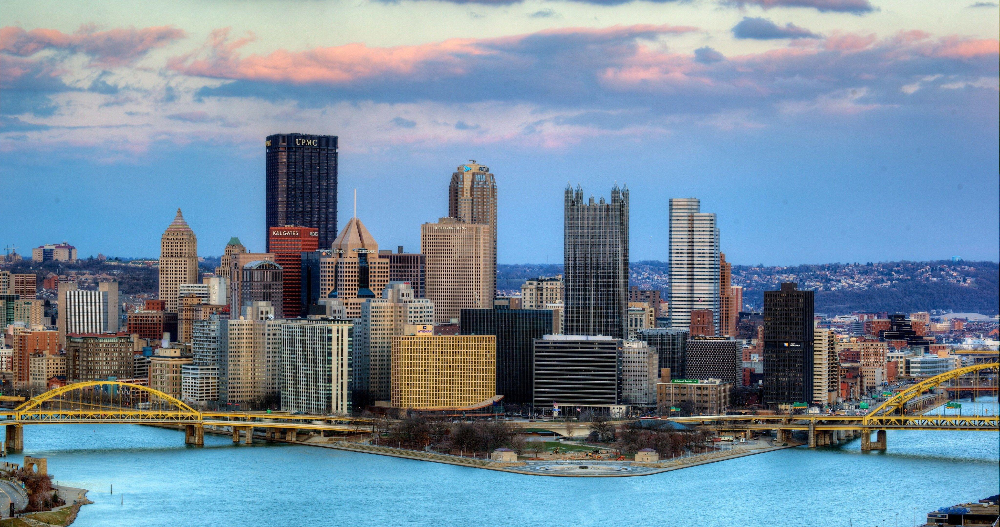 Pittsburgh Desktop Wallpaper Skyline: Usa City Pittsburgh 4k Ultra Hd Wallpaper