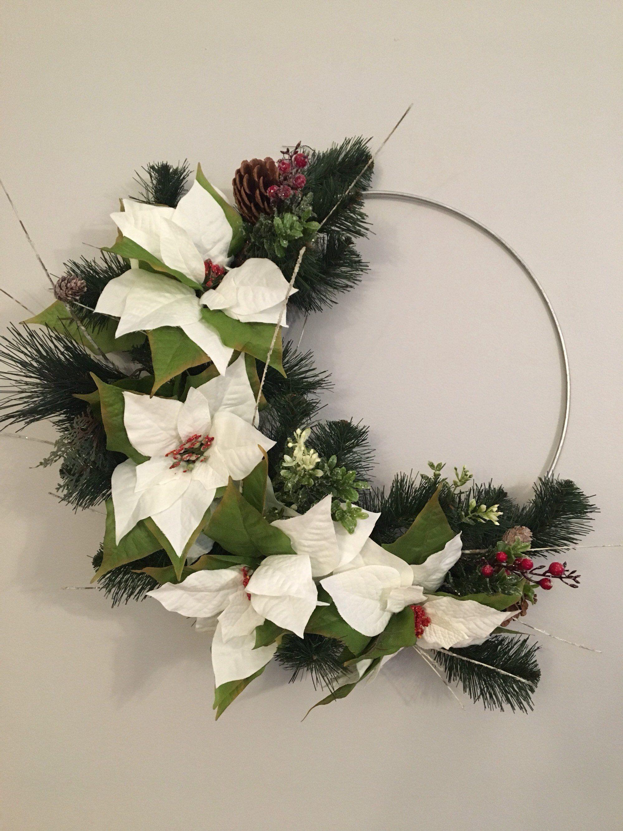 Metal Hoop Wreath Christmas Hoop Wreath Christmas Wreath Berry