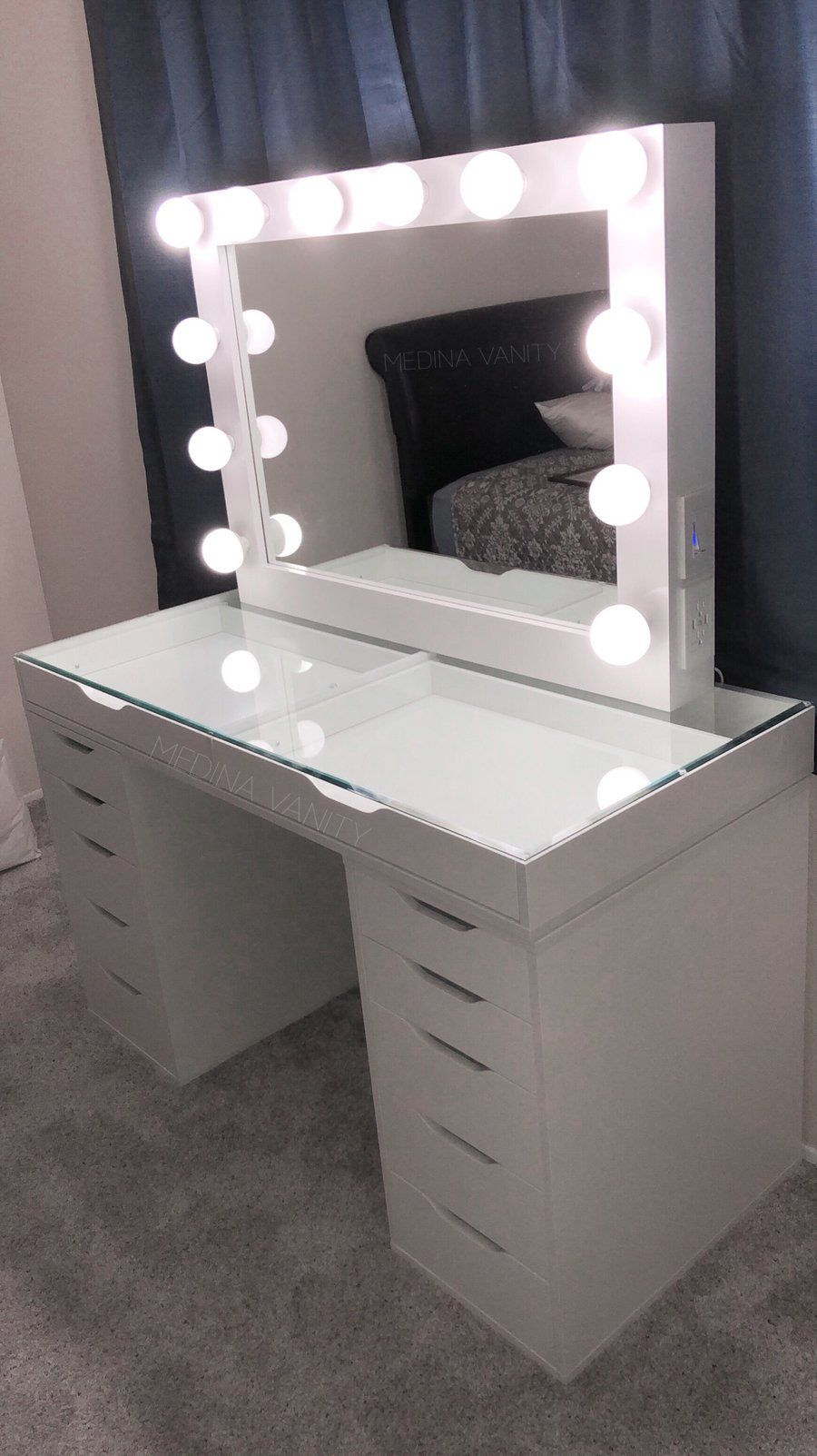 ZARA Vanity Table + 9 Dressers - Medina Vanity  Beauty room