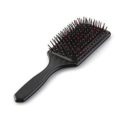 Gran bola de masaje con cepillo para el pelo liso o rizado Negro Cabeza Del Mango