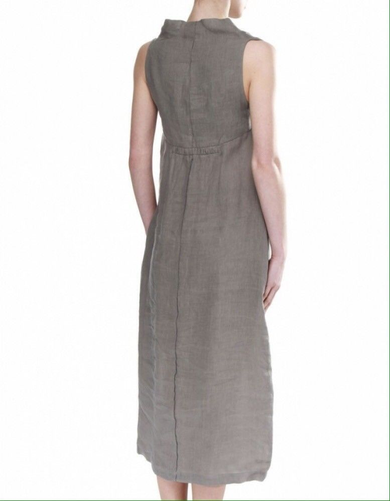 fbf6ac46c530 Details about Lovely LINEN DRESS by SARAH PACINI. MIDI Length. Cowl ...