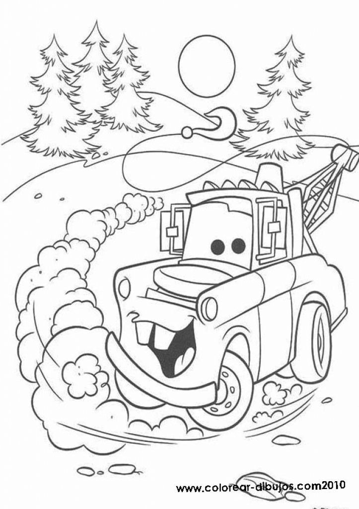Free Disney Cars Tow Mater Coloring Page To Print