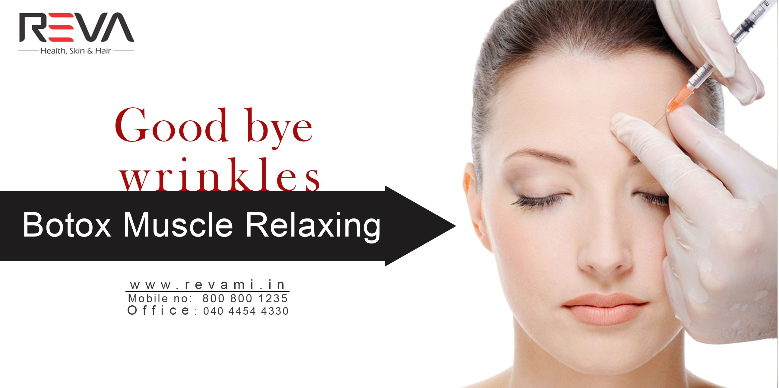 Good bye wrinkles Botox Muscle Relaxing We Have Safe