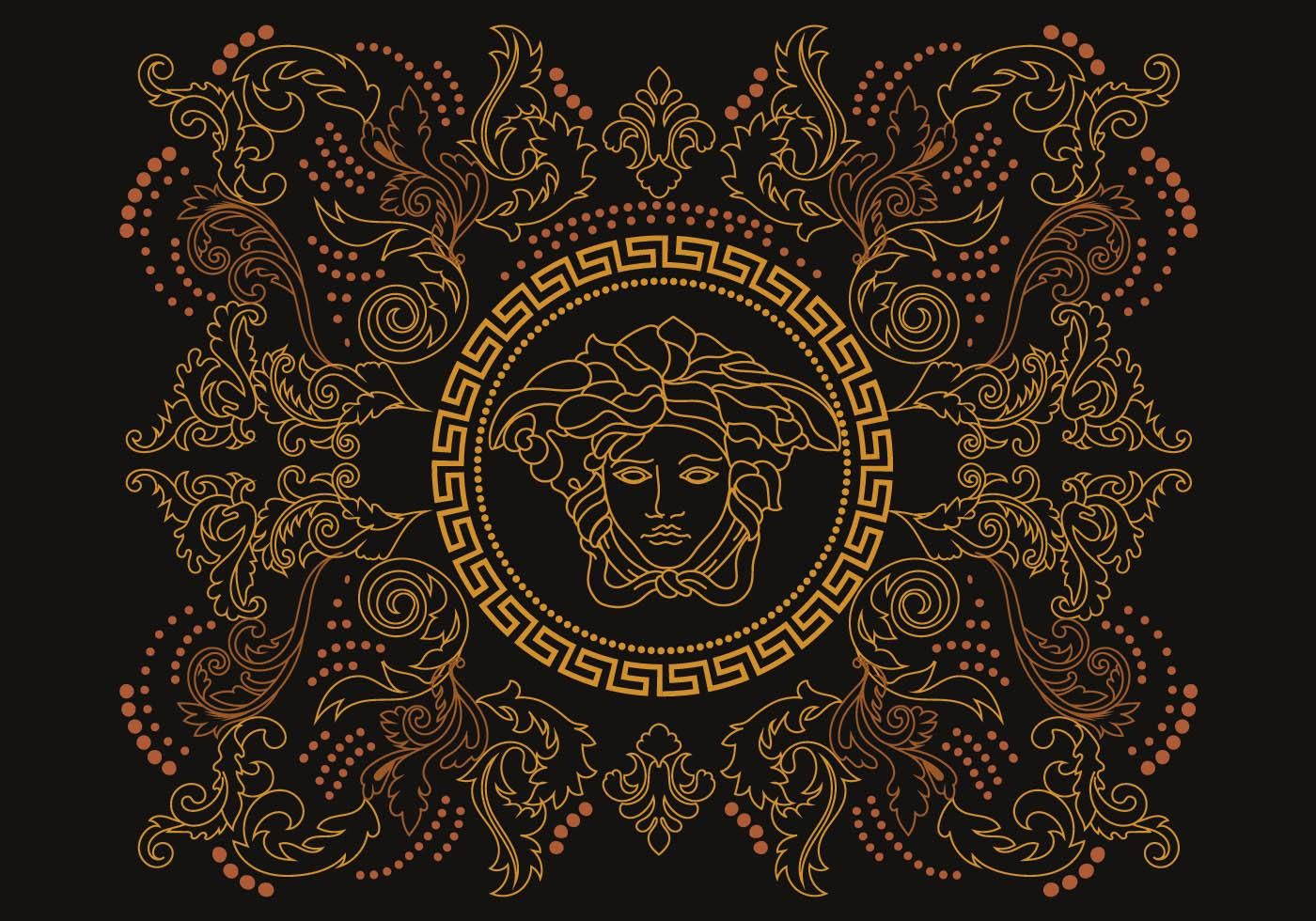 Stencil Versace Vector Vector art design, Vector art