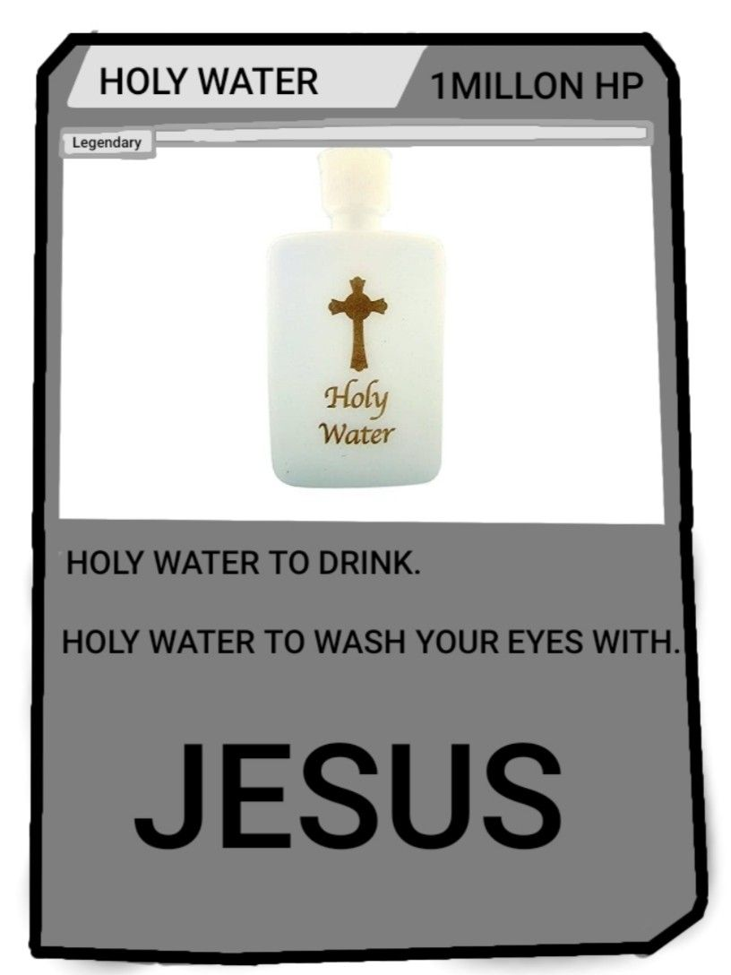 Holy Water Meme Card Holy Water Meme Water Meme Holy Water